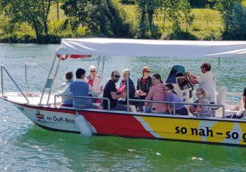 Stadt-Führung auf der Aare mit dem Öufi-Boot